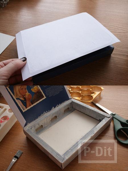 รูป 4 กล่องช็อคโกแลต นำมาห่อกระดาษ เก็บของ