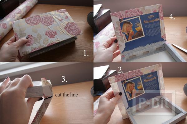 รูป 5 กล่องช็อคโกแลต นำมาห่อกระดาษ เก็บของ