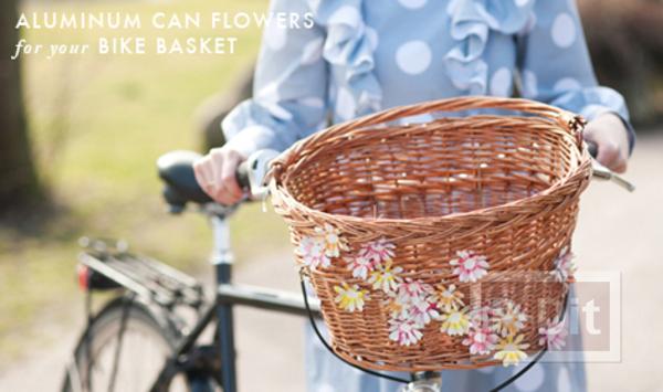 ดอกไม้ประดับ ทำจากกระป๋องน้ำอัดลม