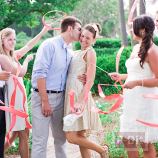 รูป 6 สอนทำคฑาริบบิ้น พริ้วสวยๆ วันแต่งงาน