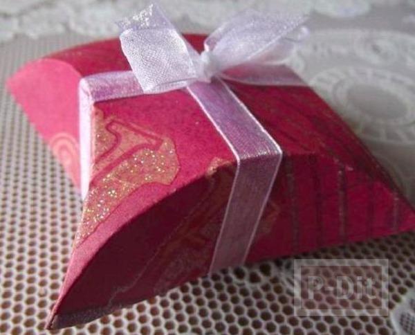 กล่องของขวัญ ทำจากกระดาษ วาดจากแผ่น CD