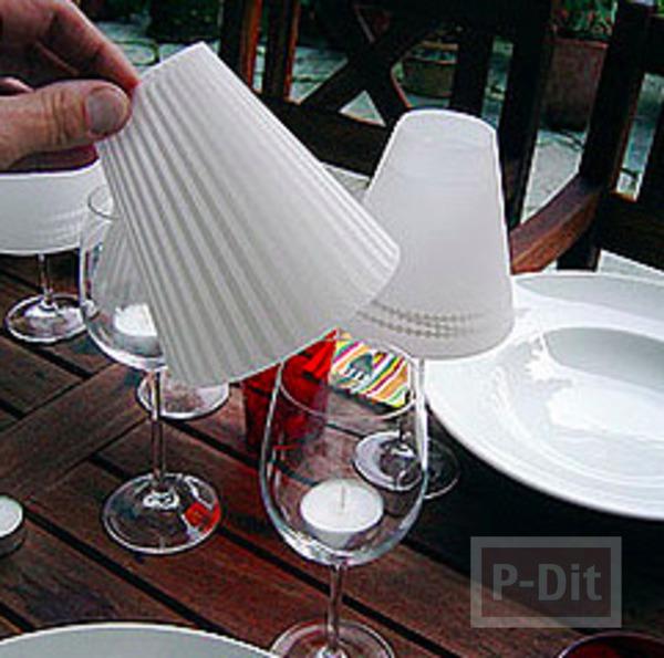 รูป 3 โคมไฟเล็กๆ ใส่เทียนไข ครอบแก้วกระดาษ