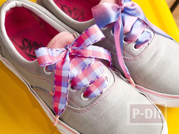 รูป 6 เชือกผูกรองเท้า ทำจากริบบิ้น