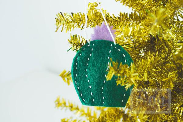 ของประดับต้นคริสต์มาส ทำจากผ้า น่ารักๆ