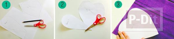 รูป 2 ดอกไม้ประดิษฐ์ดอกใหญ่ๆ ทำจากกระดาษย่น