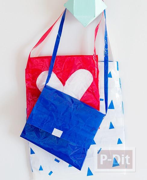 รูป 1 กระเป๋าน่ารักๆ ทำจากสก็อตเทปสีสวย