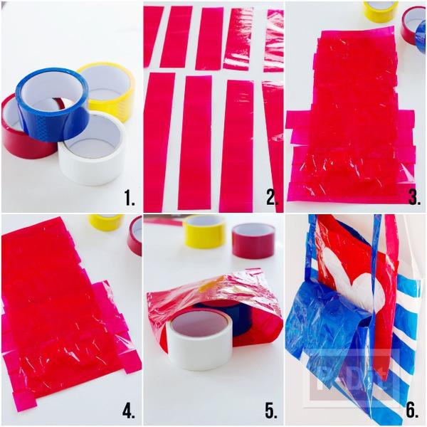 รูป 2 กระเป๋าน่ารักๆ ทำจากสก็อตเทปสีสวย