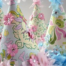 หมวกปาร์ตี้ ตกแต่ง ประดับดอกไม้ประดิษฐ์