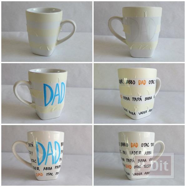 รูป 2 แก้วกาแฟ ของขวัญวันพ่อ เขียนเองสวยๆ