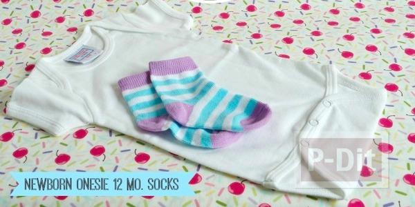 รูป 3 ทำของขวัญให้เด็กทารก พับชุดใส่ถ้วยคัพเค้พ น่ารักๆ