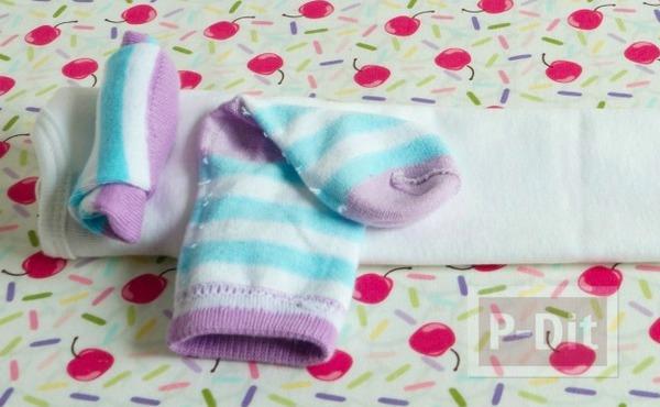 รูป 6 ทำของขวัญให้เด็กทารก พับชุดใส่ถ้วยคัพเค้พ น่ารักๆ