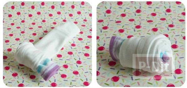 รูป 7 ทำของขวัญให้เด็กทารก พับชุดใส่ถ้วยคัพเค้พ น่ารักๆ
