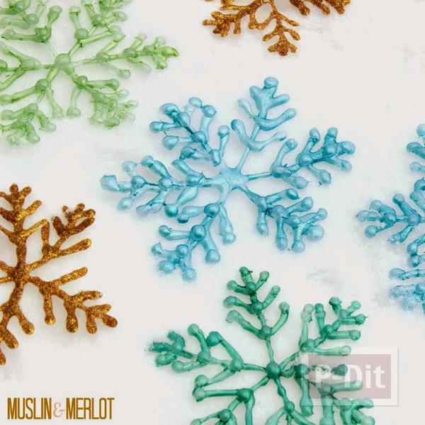 รูป 1 หิมะปลอม ทำจากกาว สีสวย ด้วยสีทาเล็บ