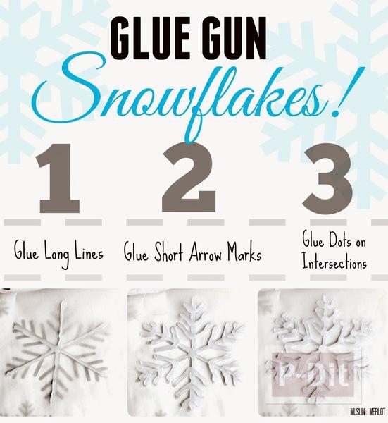 รูป 6 หิมะปลอม ทำจากกาว สีสวย ด้วยสีทาเล็บ