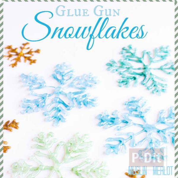 รูป 7 หิมะปลอม ทำจากกาว สีสวย ด้วยสีทาเล็บ