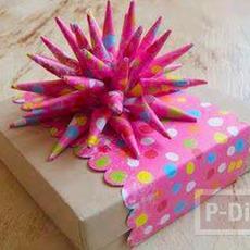 โบว์ประดับกล่องของขวัญสวยๆ ทำจากกระดาษสีสด