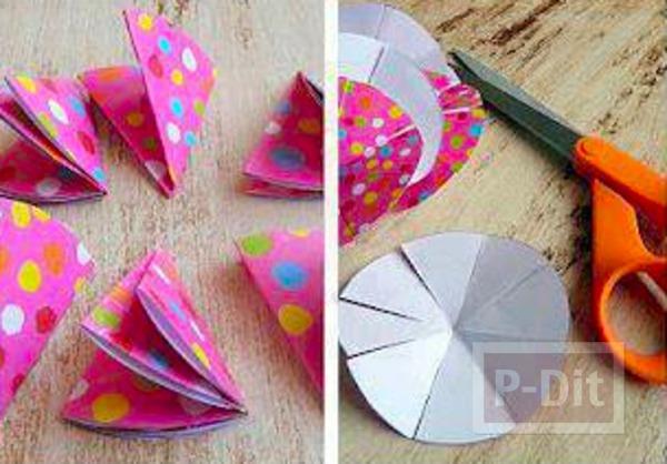 รูป 2 โบว์ประดับกล่องของขวัญสวยๆ ทำจากกระดาษสีสด