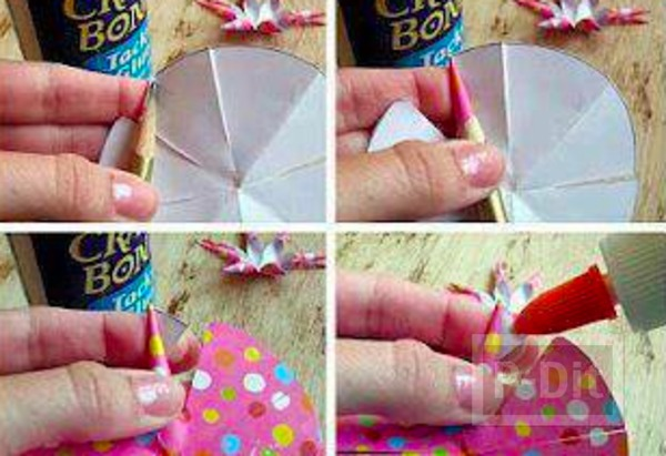 รูป 3 โบว์ประดับกล่องของขวัญสวยๆ ทำจากกระดาษสีสด