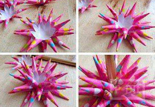 รูป 4 โบว์ประดับกล่องของขวัญสวยๆ ทำจากกระดาษสีสด