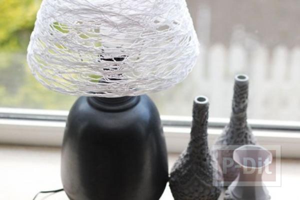 โคมไฟสวยๆ ตกแต่งจากเชือก
