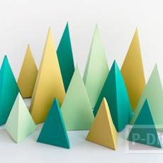 กล่องใส่ของขวัญน่ารักๆ สามเหลี่ยม พับกระดาษ