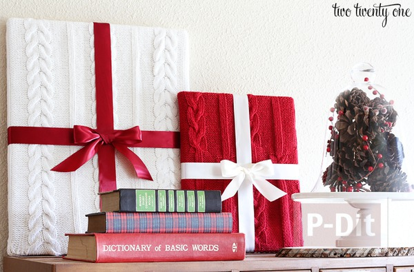 รูป 1 ไอเดียทำกล่องของขวัญโชว์ ประดับวันคริสต์มาส