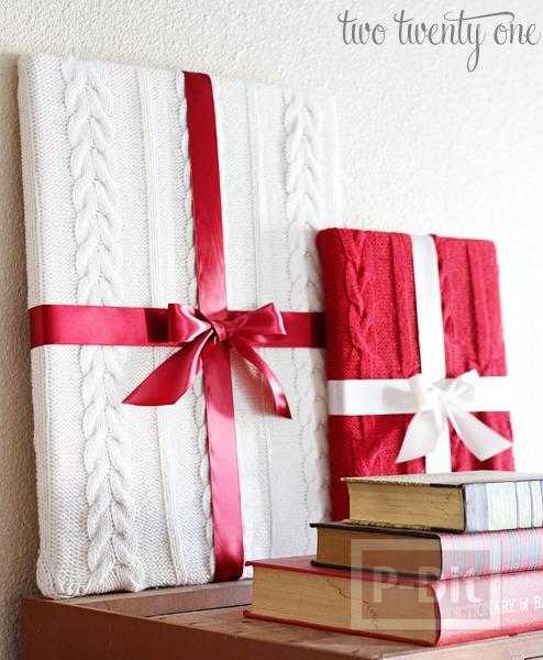 รูป 2 ไอเดียทำกล่องของขวัญโชว์ ประดับวันคริสต์มาส