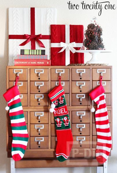 รูป 3 ไอเดียทำกล่องของขวัญโชว์ ประดับวันคริสต์มาส