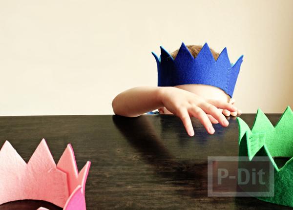 รูป 1 มงกุฎผ้า ทำเอง สีสดใส