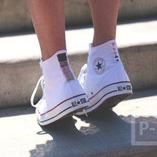 รองเท้า Converse (คอนเวิร์ส) ตกแต่งลายสวย