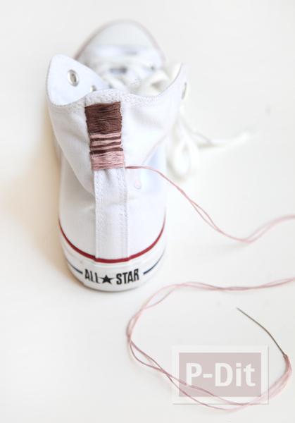 รูป 2 รองเท้า Converse (คอนเวิร์ส) ตกแต่งลายสวย