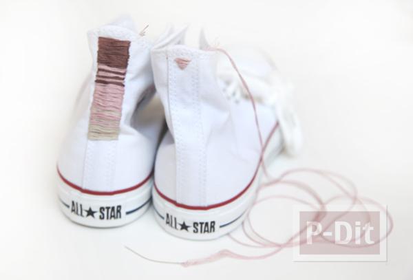 รูป 3 รองเท้า Converse (คอนเวิร์ส) ตกแต่งลายสวย