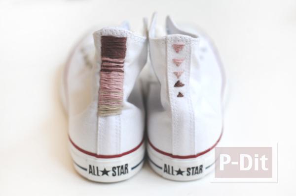 รูป 4 รองเท้า Converse (คอนเวิร์ส) ตกแต่งลายสวย