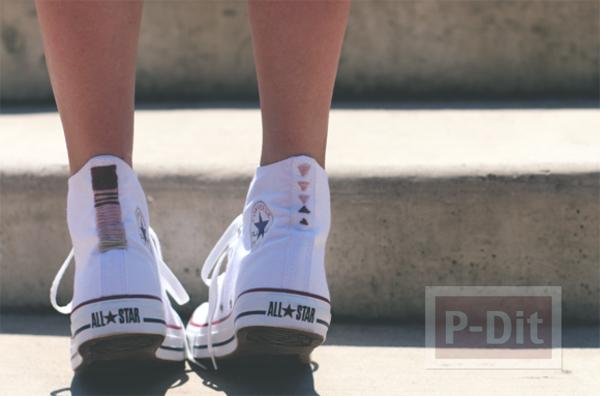 รูป 5 รองเท้า Converse (คอนเวิร์ส) ตกแต่งลายสวย