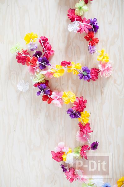 รูป 3 โมบายดอกไม้สวยๆ ทำจากดอกไม้ปลอม