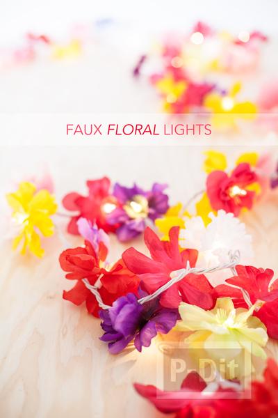 รูป 4 โมบายดอกไม้สวยๆ ทำจากดอกไม้ปลอม