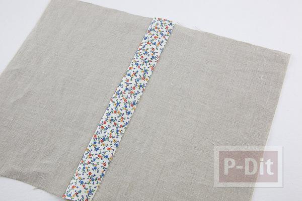 รูป 2 ห่อปกสมุดโน๊ต ประดับลายน่ารักๆ จากผ้า
