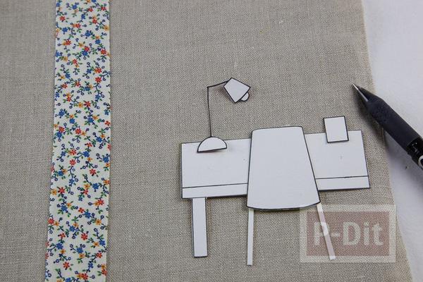 รูป 4 ห่อปกสมุดโน๊ต ประดับลายน่ารักๆ จากผ้า