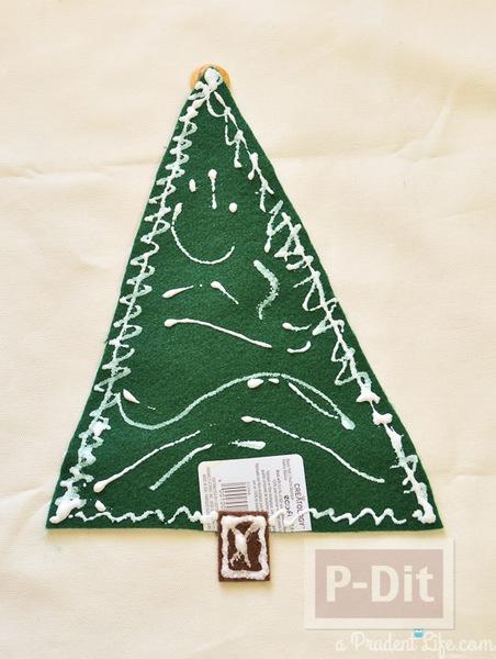 รูป 5 ตกแต่งหมอนอิง ต้นคริสต์มาส สีเขียว