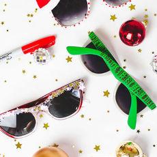 แว่นตากันแดด ตกแต่งลายสวย ปาร์ตี้วันคริสต์มาส