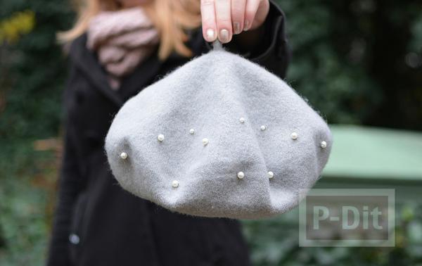 รูป 4 หมวกผ้า ประดับเม็ดมุกเม็ดเล็กๆ