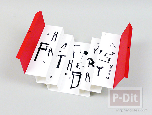 การ์ดวันพ่อ 3D เปิดจากกล่อง