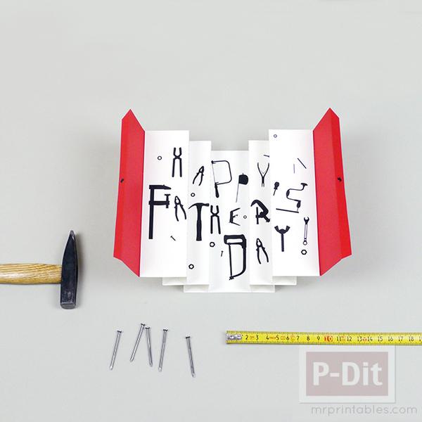 รูป 3 การ์ดวันพ่อ 3D เปิดจากกล่อง