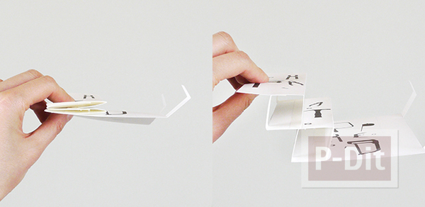 รูป 7 การ์ดวันพ่อ 3D เปิดจากกล่อง
