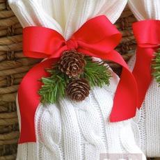 ถุงใส่ของขวัญคริสต์มาส ทำจากเสื้อหนาว ตัวเก่า