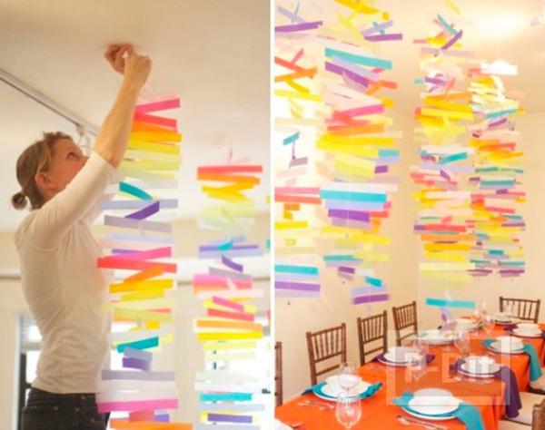ไอเดียตกแต่งโมบาย ประดับโต๊ะ งานเลี้ยงสีสดใส