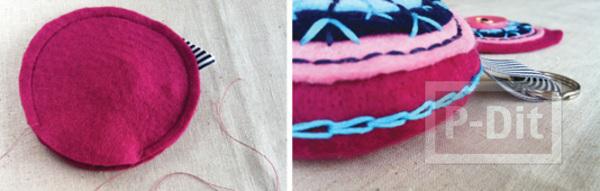 รูป 3 พวงกุญแจน่ารักๆ ทำเองจากผ้าสักกะหลาด