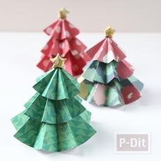ต้นคริสต์มาส ทำจากกระดาษ พับเองน่ารักๆ