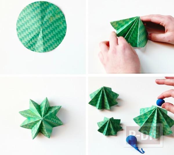 รูป 3 ต้นคริสต์มาส ทำจากกระดาษ พับเองน่ารักๆ