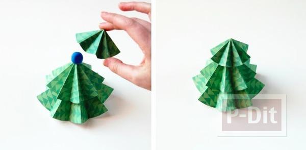 รูป 4 ต้นคริสต์มาส ทำจากกระดาษ พับเองน่ารักๆ